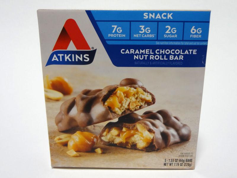 キャラメル チョコレート ナッツ ロールバーの箱