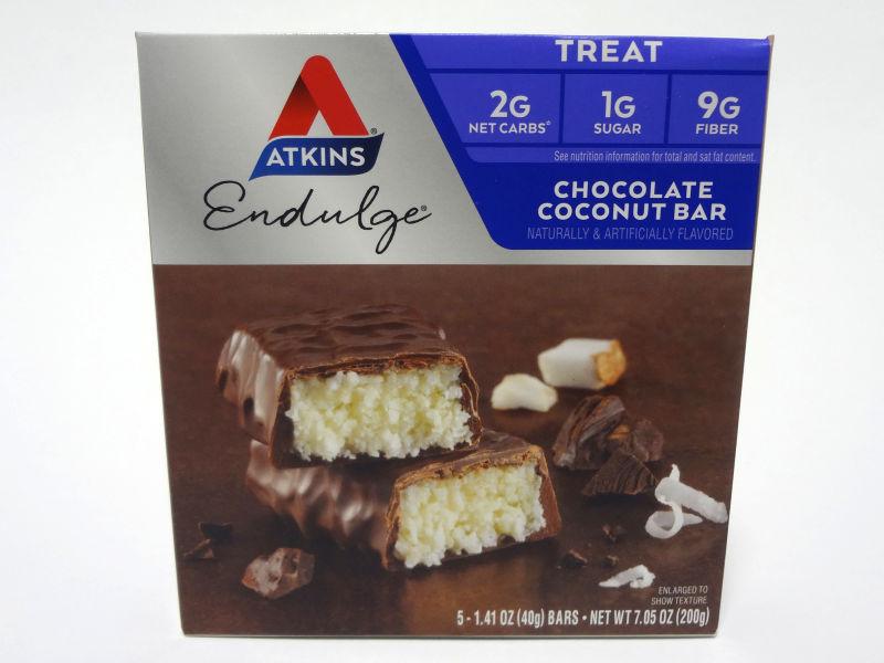 チョコレート ココナッツバーの箱