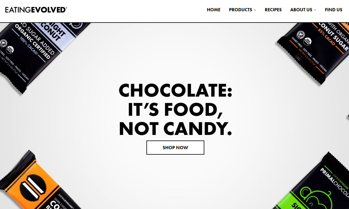 EATING EVOLVED公式サイトのスクリーンショット