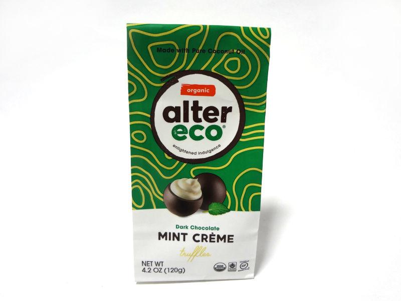 Alter Eco チョコレートトリュフ ミントクリームのパッケージ