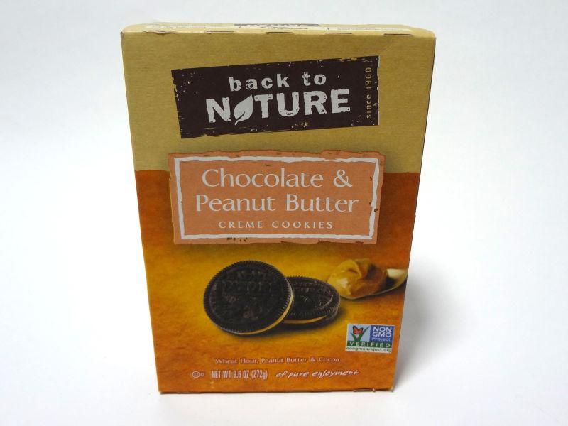 Back to Nature クリームクッキー チョコレート&ピーナッツバターのパッケージ