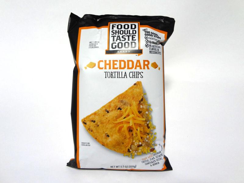Food Should Taste Good トルティーヤチップス チェダーのパッケージ