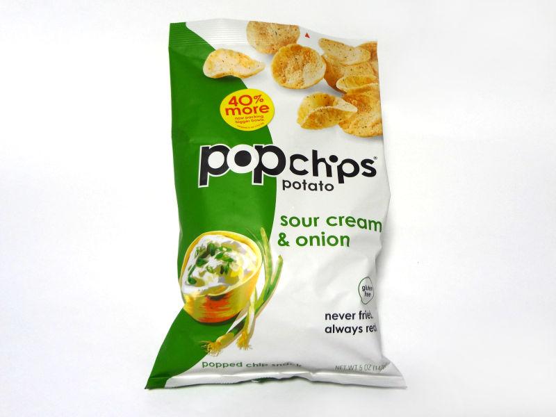 Popchips サワークリーム&オニオンのパッケージ