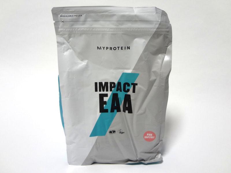 マイプロテイン IMPACT EAA グレープフルーツ味のパッケージ