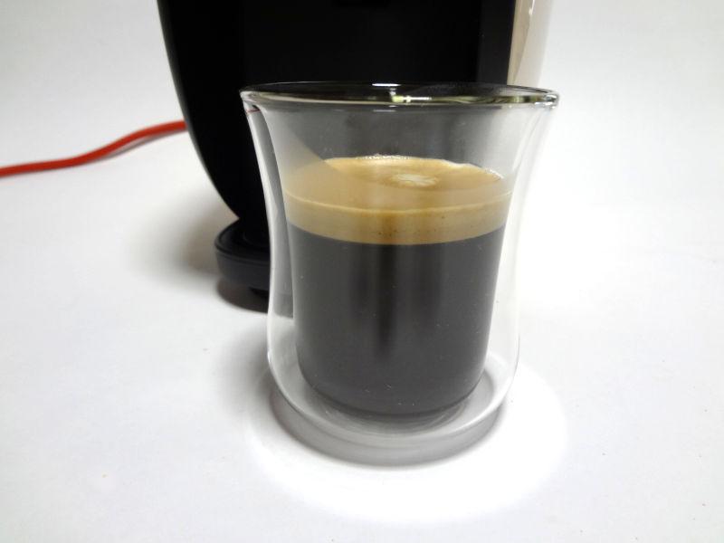ブラックコーヒーの抽出完了