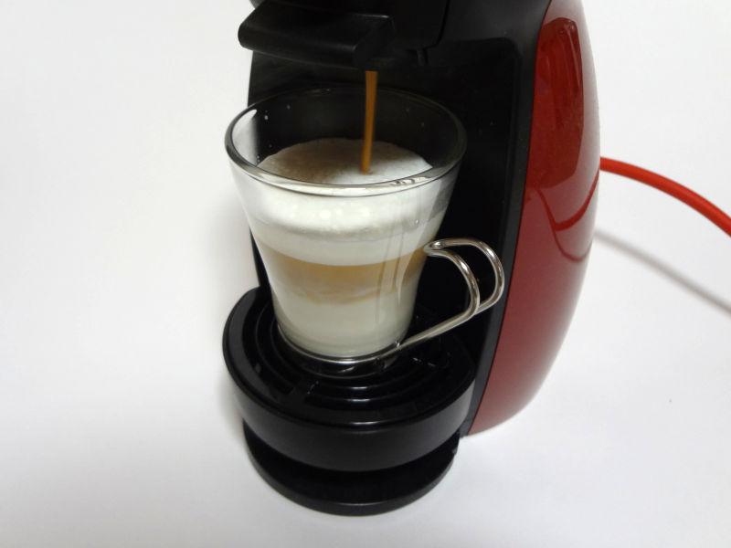 コーヒーカプセルを抽出